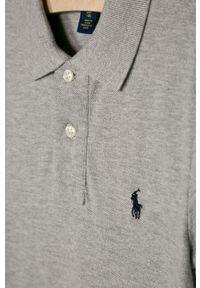 Szary t-shirt polo Polo Ralph Lauren casualowy, na co dzień, krótki, melanż