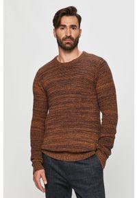 Złoty sweter Tailored & Originals z długim rękawem, długi, na co dzień