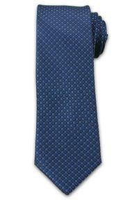 Stylowy Krawat Męski z Delikatnym Deseniem - Chattier- 6,7cm, Niebieski. Kolor: niebieski. Materiał: tkanina. Wzór: grochy. Styl: elegancki