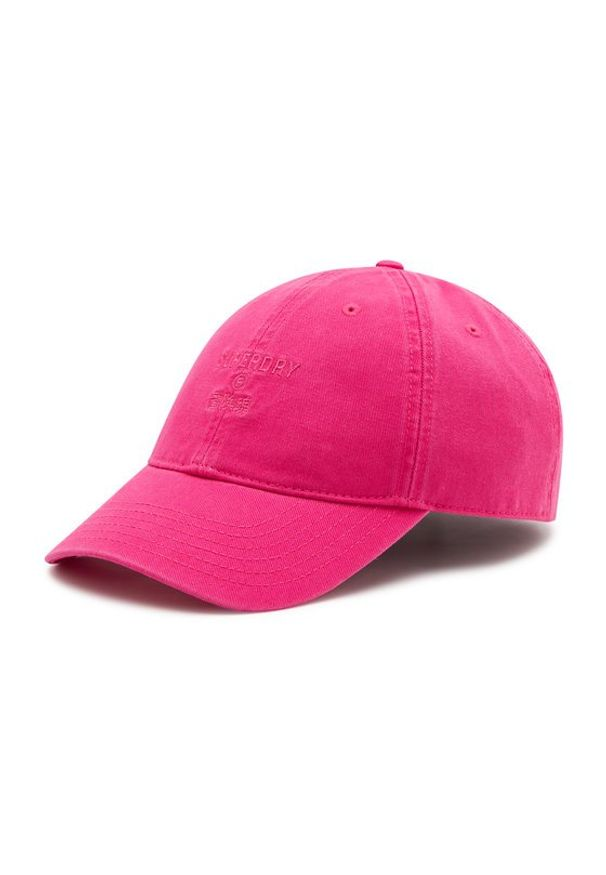 Superdry Czapka z daszkiem Baseball Cap W9010105A Różowy. Kolor: różowy