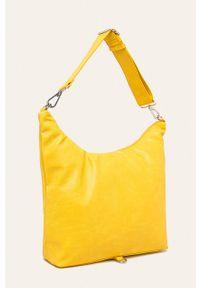 Żółta shopperka ANSWEAR na ramię, duża