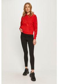 Czerwona bluza Calvin Klein Jeans z nadrukiem, na co dzień, casualowa