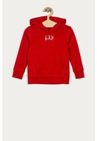 Czerwona bluza GAP z aplikacjami, z kapturem