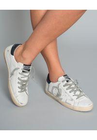 GOLDEN GOOSE - Sneakersy Superstar. Kolor: biały. Materiał: guma. Wzór: napisy, aplikacja