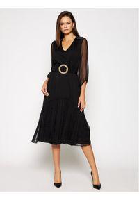 Czarna sukienka wieczorowa Nissa