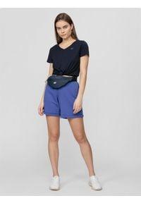 4f - Spodenki dresowe damskie. Kolor: niebieski. Materiał: dresówka