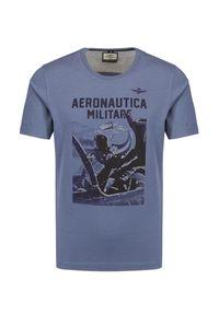 T-shirt Aeronautica Militare z krótkim rękawem, moro, militarny