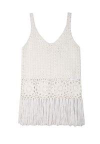 Biała bluzka TOP SECRET na wiosnę, bez rękawów