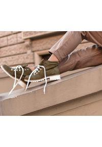 Botki Zapato z nadrukiem, na co dzień, z cholewką za kostkę