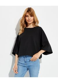 ALEXANDRE VAUTHIER - Czarna koszulka oversize. Kolor: czarny. Materiał: bawełna