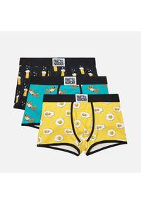 3 pack kolorowych bokserek - Żółty
