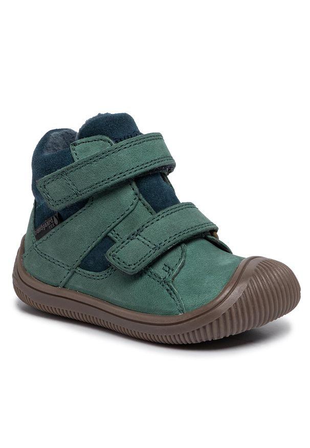 Zielone buty zimowe Bundgaard z cholewką