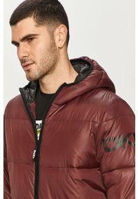 Brązowa kurtka DKNY na co dzień, z kapturem