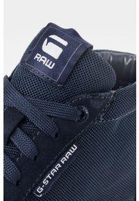 Czarne sneakersy G-Star RAW z cholewką, z okrągłym noskiem, na sznurówki #5