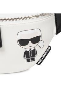 Karl Lagerfeld - Saszetka nerka KARL LAGERFELD - 205W3016 White. Kolor: biały. Materiał: materiał