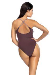 Brązowy strój kąpielowy Lorin gładki
