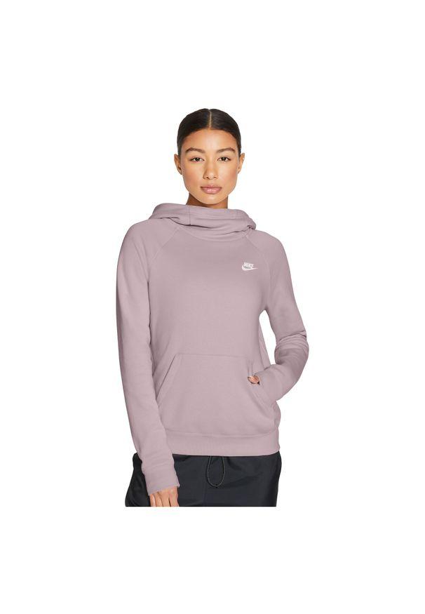 Bluza damska casual Nike Essential FLC BV4116. Materiał: tkanina, skóra, bawełna, poliester. Sport: fitness