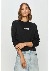 Czarna bluza Calvin Klein Performance bez kaptura, długa, na co dzień