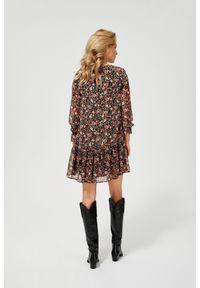 Sukienka MOODO vintage, na co dzień, oversize, w kwiaty