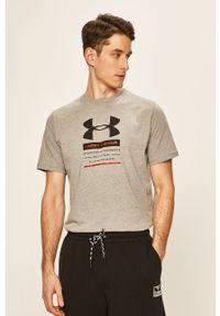 Szary t-shirt Under Armour z nadrukiem