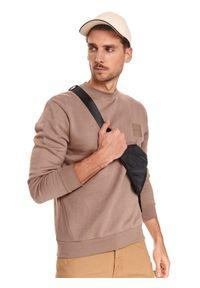 Beżowa bluza TOP SECRET z aplikacjami
