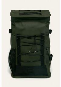 Rains - Plecak 1315 Mountaineer Bag. Kolor: zielony. Wzór: paski