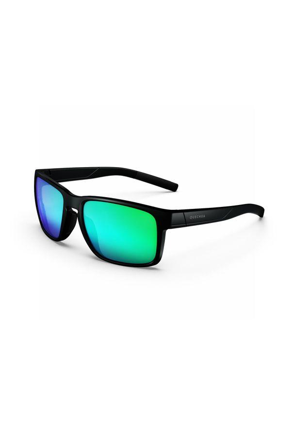 quechua - Okulary przeciwsłoneczne - MH530 - kategoria 3 - dla dorosłych. Kolor: czarny. Materiał: materiał