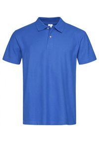 Stedman - Chabrowa Bawełniana Koszulka POLO -STEDMAN- Męska, Krótki Rękaw, z Kołnierzykiem, Niebieska. Typ kołnierza: polo. Kolor: niebieski. Materiał: bawełna. Długość rękawa: krótki rękaw. Długość: krótkie. Wzór: ze splotem