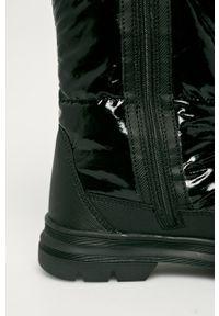 Czarne buty zimowe Primigi na zimę, z cholewką, na zamek