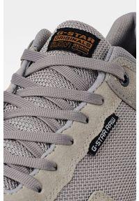 Szare sneakersy G-Star RAW z cholewką, z okrągłym noskiem, na sznurówki