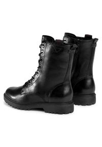 Czarne buty trekkingowe Tamaris z cholewką