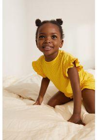 Żółta piżama Mango Kids