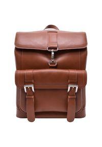 MCKLEIN - Ekskluzywny skórzany plecak męski McKlein Hagen 88024 brązowy. Kolor: brązowy. Materiał: skóra