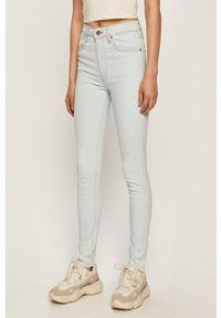 Niebieskie jeansy Levi's® biznesowe, z podwyższonym stanem, w kolorowe wzory, na spotkanie biznesowe
