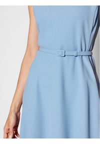 Niebieska sukienka Lauren Ralph Lauren prosta, casualowa