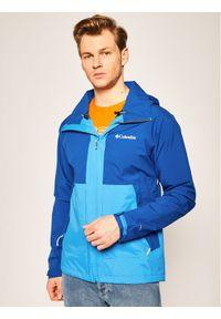 Niebieska kurtka przeciwdeszczowa columbia