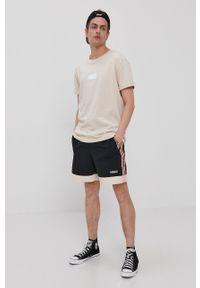 adidas Originals - T-shirt. Kolor: beżowy. Wzór: aplikacja