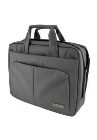 Szara torba na laptopa SKINK elegancka