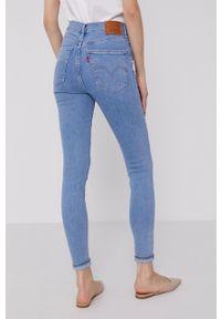 Levi's® - Levi's - Jeansy Mile High Super Skinny. Okazja: na spotkanie biznesowe. Stan: podwyższony. Kolor: niebieski. Styl: biznesowy