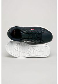 Niebieskie sneakersy Levi's® z okrągłym noskiem, z cholewką, na sznurówki, do pracy
