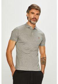 Szara koszulka polo Polo Ralph Lauren na co dzień, polo