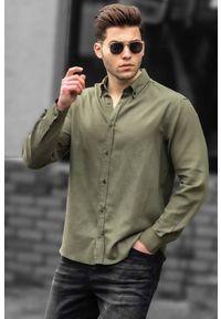 Brązowa koszula IVET casualowa, długa, z długim rękawem, na co dzień