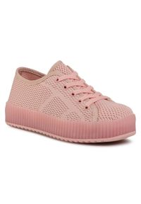 Nelli Blu - Sneakersy NELLI BLU - AVO-401-002 Light Pink. Kolor: różowy. Materiał: materiał