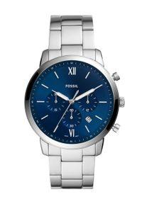 Fossil - FOSSIL - Zegarek FS5792. Kolor: srebrny. Materiał: materiał