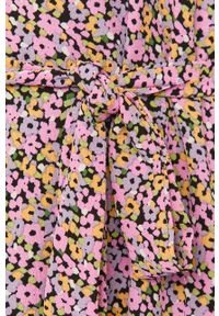 Fioletowa sukienka Jacqueline de Yong casualowa, z krótkim rękawem