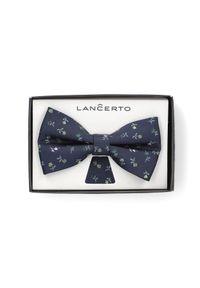 Muszka Lancerto w kwiaty, na spotkanie biznesowe, elegancka