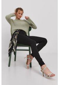 Vero Moda - Sweter. Okazja: na co dzień. Kolor: zielony. Materiał: włókno, materiał. Długość rękawa: raglanowy rękaw. Styl: casual