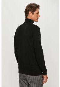 Czarny sweter Selected z długim rękawem, z golfem