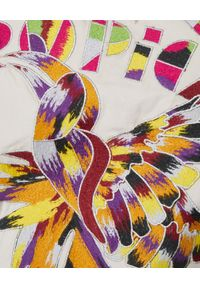 ISABEL MARANT - Beżowa sukienka Givens. Okazja: na co dzień. Kolor: beżowy. Materiał: zamsz, materiał. Wzór: aplikacja, napisy, kolorowy, haft. Typ sukienki: dopasowane. Styl: casual. Długość: mini
