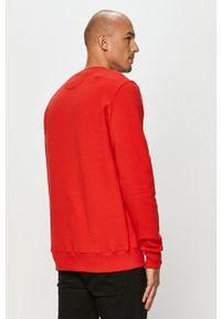 Czerwona bluza nierozpinana Prosto. z aplikacjami, bez kaptura